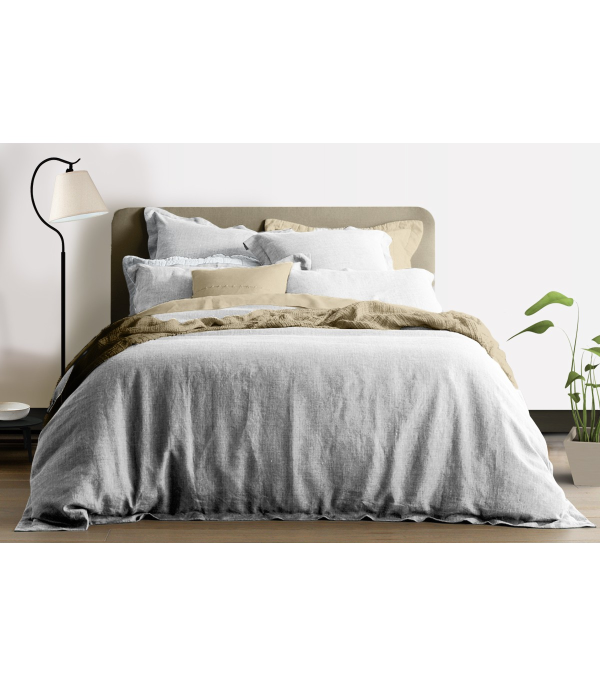 housse de couette 100 lin blanc my little bed. Black Bedroom Furniture Sets. Home Design Ideas