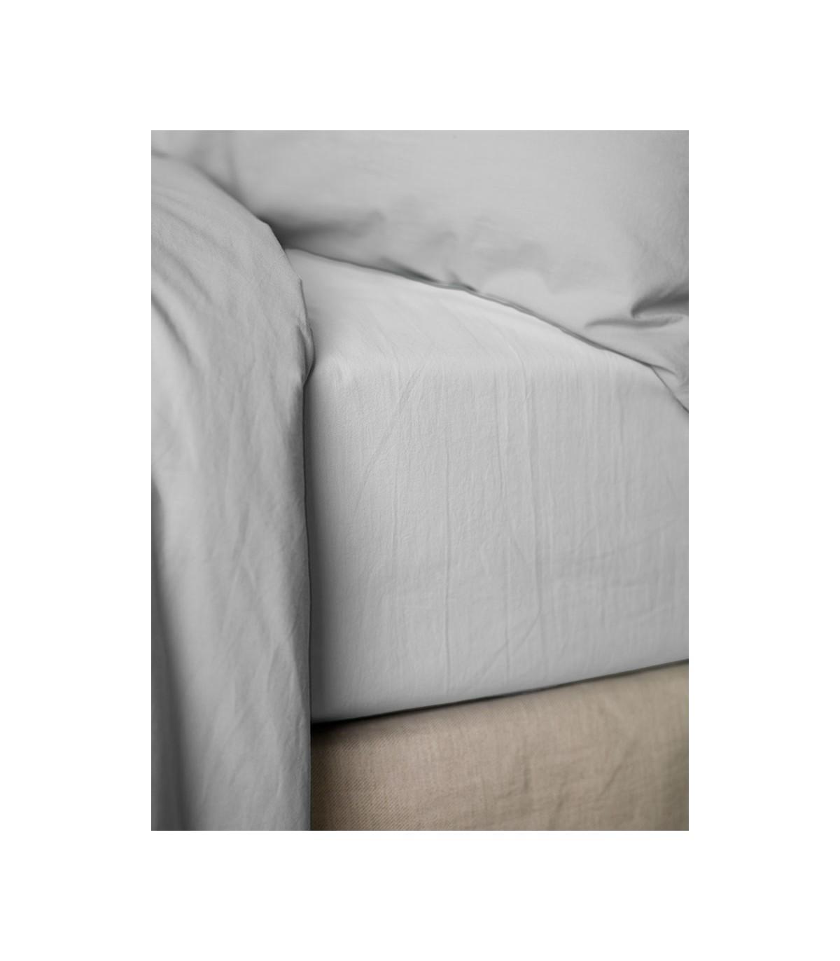 Drap housse   Percale de coton   Blanc   My little Bed