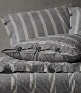 Parure 100% coton lavé gris 4