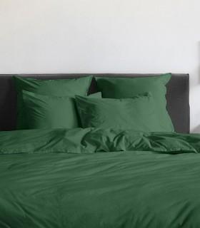 Housse de couette percale 200 fils vert